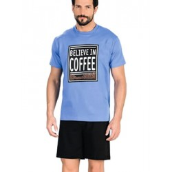 Minerva Αντρική Πυτζάμα Coffee - 100% Βαμβάκι