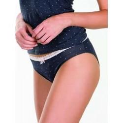 Minerva Γυναικείο Bikini Κανονικό FIMELLE LACE TRIM Dots - Φυτικό Modal & Δαντέλα