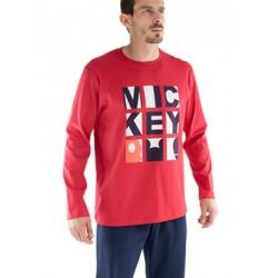 Πυτζάμα Minerva Mickey - 100% Βαμβάκι Interlock - Μεταξοτυπία - Hot Pick 18