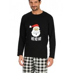 Ανδρική Πυτζάμα HO! HO! CHRISTMAS MINERVA - Βαμβακερή Interlock - Χειμώνας 2018