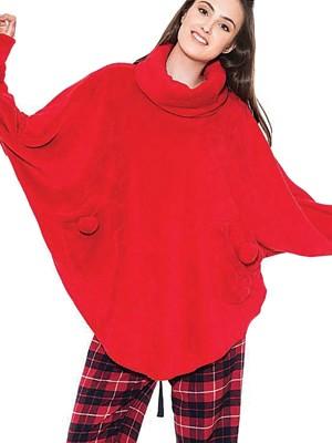 Πόντσο-Κάπα Πολυτελείας HARMONY - Πολύ Ζεστό Απαλό Fleece
