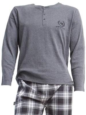 Ανδρική Πυτζάμα Homewear Apple - 100% Βαμβάκι Interlock - Καρό Παντελόνι