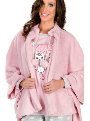 Γυναικείο Πόντσο Minerva  - Fleece Πολύ Γεμάτου Πάχους - Hot Pick 17-18
