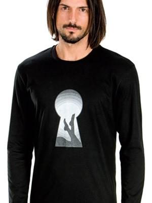 Ανδρική Μπλούζα Homewear MINERVA Βαμβακερή Interlock - Παράσταση Μεταξοτυπίας