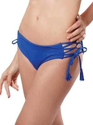 Μαγιό Blu4u SOLIDS Bikini Πλεχτό σχέδιο με κορδόνια - Χωρίς Ραφές Mix & Match Καλοκαίρι 2017