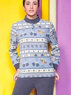Buccia di Mela Γυναικεία Πυτζάμα Fleece -  Ζεστή & Πολύ Απαλή