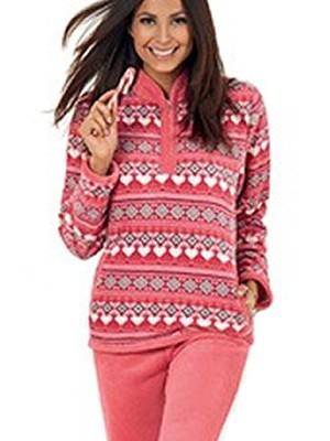 Buccia di Mela Γυναικεία Fleece Homewear-Φόρμα Πολυτελείας  -  Πολύ Ζεστή & Απαλή