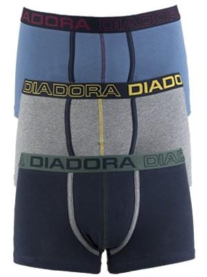 Diadora Boxer - Βαμβακερό - Φαρδύ Λάστιχο - Logo Diadora - 3 τεμάχια - Χειμώνας 2017-18