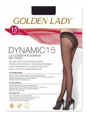Καλσόν Golden Lady DYNAMIC 15den Λεπτό - Με Επικάλυψη Lycra - Επίπεδο Δαντελένιο Slip - Κατάλληλο για πέδιλο