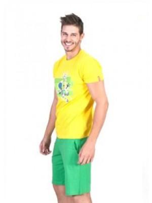 Apple Ανδρική Homewear Τύπου Φόρμας Brazil Looney Tunes- Εθνική Βραζιλίας - Βαμβακερή