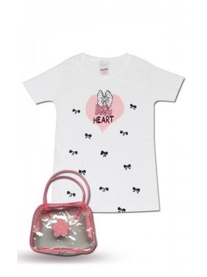 T-Shirt Φανέλα Minerva BEST HEART  για κορίτσι - 100% Βαμβάκι