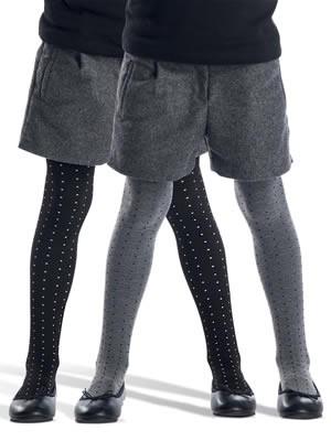Καλσόν Παιδικό Franzoni DILETTEVOLE  80 Den - Διπλής Όψης -  Dots Πουά Σχέδιο - Πολύ Απαλό - Ελαστική Microfibra