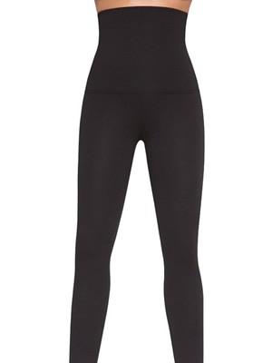 Κολάν Παντελόνι Bas Black Push Up Αδιάφανο Ελαστικό - Λαστέξ Σύσφιξης - μείον 1 μέγεθος