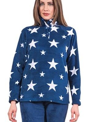 Πυτζάμα Homewear Karel – Ζεστό Απαλό Fleece – Σχέδιο Αστέρια - Χειμώνας 2017-18