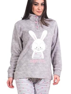 Πυτζάμα Homewear Karelpiu – Ζεστό & Απαλό Fleece – Ανάγλυφο Κέντημα - Χειμώνας 2017-18