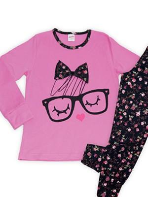 Πυτζάμα Παιδική Minerva Glasses - 100% Βαμβάκι Interlock - All Over Floral σχέδιο - Hot Pick 17-18