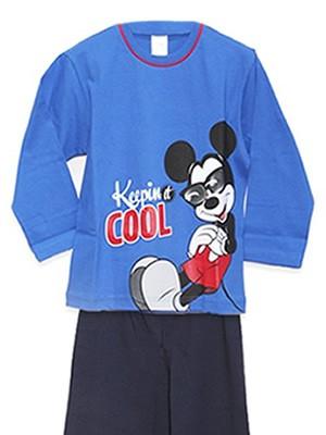 Παιδική Πυτζάμα Minerva MICKEY COOL - 100% Αγνό Βαμβάκι Interlock