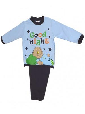 Βρεφική Πυτζάμα Minerva GOOD NIGHT για  αγόρι - Οικολογικό Βαμβάκι Interlock