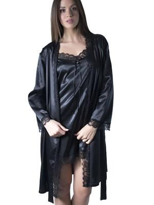 Ρόμπα Σατέν Gossip - Διακόσμηση Δαντέλας - Χειμώνας 2017-18
