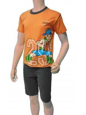 Παιδική Πυτζάμα Minerva για αγόρι  - 100% Οικολογικό Βαμβάκι