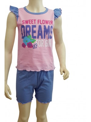 Παιδική Πυτζάμα Minerva DREAMS για κορίτσι - Floral Σχέδιο - Βαμβακερή - Πολύ Απαλή