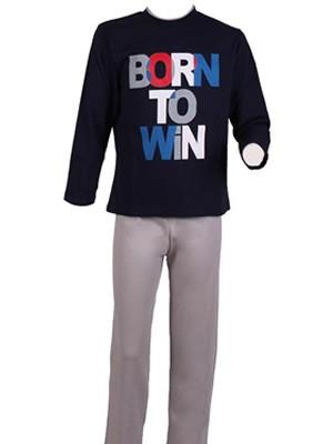 Παιδική - Εφηβική Πυτζάμα Minerva BORN TO WIN - 100% αγνό βαμβάκι Interlock - Hot Pick 17-18