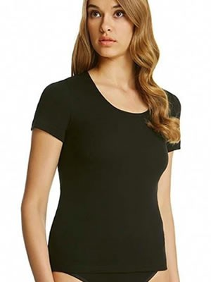Palco Simply Best Cotton Γυναικεία Top με Κοντό Μανίκι - Ανοιχτή Λαιμόκοψη  - Βαμβακερή - 2 τεμάχια