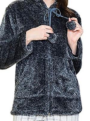 Ζακέτα Homewear Πολυτελείας HARMONY - Ζεστό Απαλή Fleece Γούνα