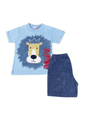 Βρεφική Πυτζάμα Minerva Lion King για αγόρι - 100% Βαμβάκι - Καλοκαίρι 2017