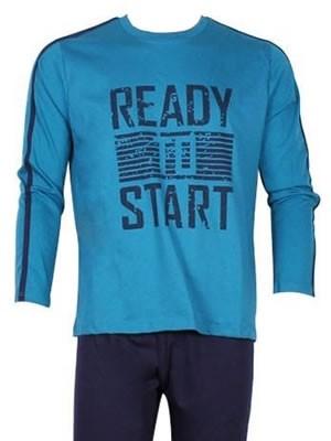 Ανδρική Πυτζάμα- Homewear MINERVA READY TO START - Γεμάτο Βαμβάκι - Hot Pick 17-18