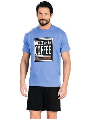 Minerva Αντρική Πυτζάμα Coffee - 100% Βαμβάκι - Καλοκαίρι 2017