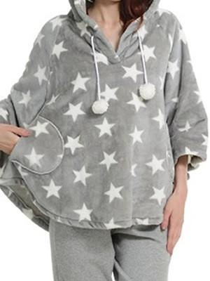 Bonne Nuit Πόντσο/Κάπα Πολυτελείας Fleece  - Σχέδιο Αστέρια