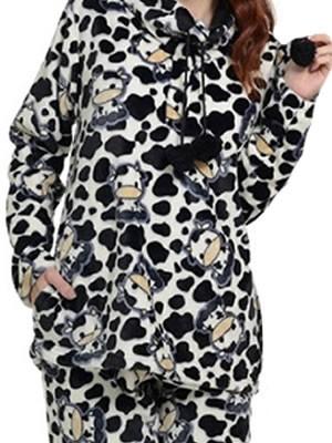 Bonne Nuit Πυτζάμα Πολυτελείας Fleece  - All Over Σχέδιο