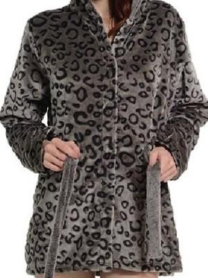 Ρόμπα Πολυτελείας Bonne Nuit – Βελούδινο Fleece – Animal Σχέδιο  – Χειμώνας 2017-18