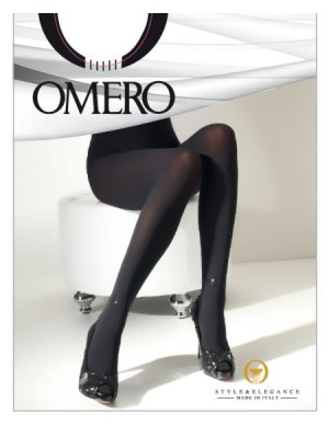 OMERO Kir Καλσόν Πολυτελείας Aδιάφανο-ποιοτική Microfibra ελαστική - Με εντυπωσιακό κόσμημα