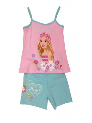 Παιδική  Πυτζάμα Minerva Barbie Britela για κορίτσι - 100%  Βαμβάκι