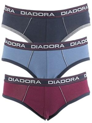 Diadora Slip - Βαμβακερό - Φαρδύ Λάστιχο - Logo Diadora - 3 τεμάχια - Χειμώνας 2017-18