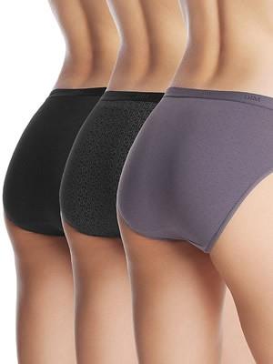 DIM Γυναικεία Σλιπς Les Pockets Coton - Βαμβακερά - Πακέτο με 3 τεμάχια