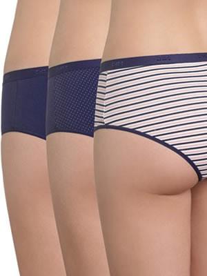 DIM Γυναικεία Boxers Les Pockets Coton - Βαμβακερά - Πακέτο με 3