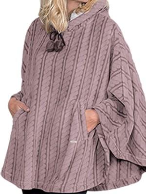 Dodo Γυναικείο Πόντσο-Κάπα DEER - Γεμάτο Εxtra Απαλό Fleece - Kουκούλα