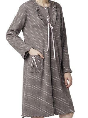 Ρόμπα Γιώτα Homewear – Γεμάτο Βαμβάκι – All Over Σχέδιο -Χειμώνας 2018