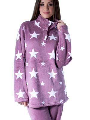 Πυτζάμα Homewear Karelpiu – Ζεστό Απαλό Fleece – Σχέδιο Αστέρια - Χειμώνας 2017-18