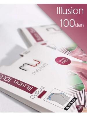 Καλσόν MEWE Illusion 100 - Αδιάφανο Opaque 100 Den In Up and Fit με Λαστέξ Σύσφιξης - Microfbra