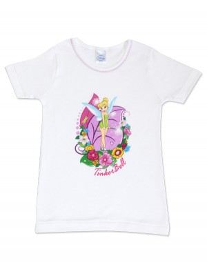 T-Shirt Φανέλα Minerva TINKERBELL για κορίτσι - 100% Αγνό Βαμβάκι