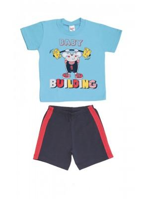 Βρεφική Πυτζάμα Minerva BABY BUILDING για αγόρι -  Βαμβάκι