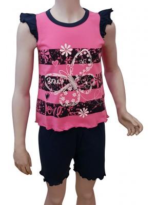 Παιδική Πυτζάμα Minerva BUTTERFLY για κορίτσι - Βαμβακερή - Πολύ Απαλή