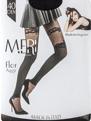 Καλσόν Meri By Mura FLOR 40den - Δαντέλα & Dots