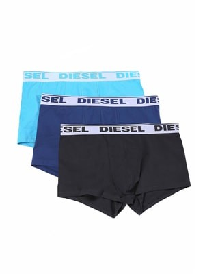 Diesel SHAWN Ανδρικά Boxer - Ελαστικό Βαμβάκι - Φαρδύ Λάστιχο - Logo Diesel - 3 τεμάχια