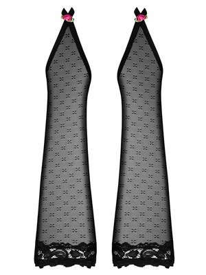 Obsessive PICCOROSA Mittens - Γάντια Σατινέ - Ελαστικά Floral