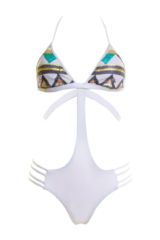 Kapetanis Μαγιό Ολόσωμο Bluepoint VIRGINIA Τρίγωνο - Brazil Bikini - 4πλες  πλαϊνες λωρίδες a4fc9a1e1f5